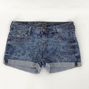 Blue Jean Paisley Print Shorts